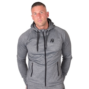 Kolla in Bridgeport Zipped Hoodie, dark grey, Gorilla Wear hos SportGymButiken.s
