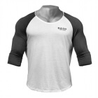 Broad Street 3/4 Sleeve, white/grey, GASP