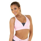Raspberry Swirl Sports Bra, pink/grey, Gavelo