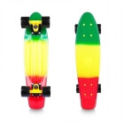 Pennyboard Sunbow 22, green/yellow/red, Worker